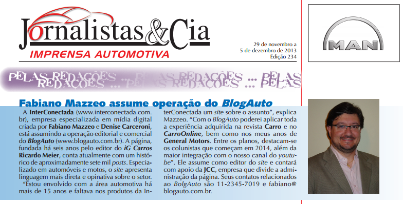 Interconectada assume operação do BlogAuto