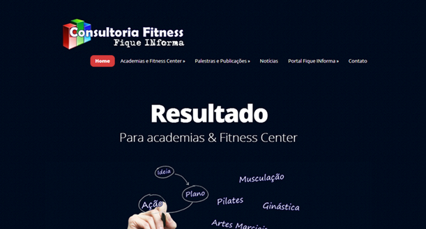 Site Consultoria em Fitness
