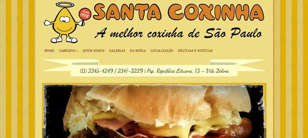 Site Lanchonete Santa Coxinha
