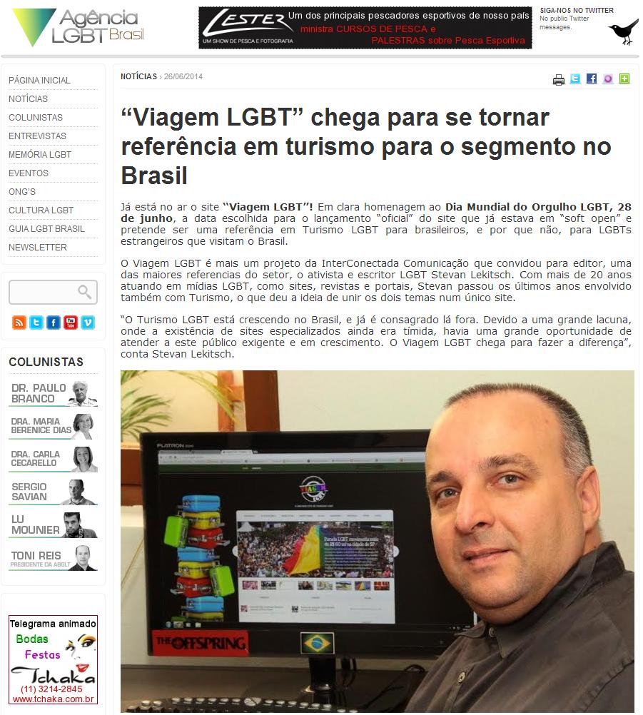 Viagem LGBT no Agência LGBT Brasil